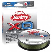 BERKLEY X9 BRAID LOW VIS GREEN